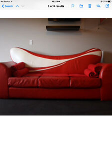 Very rare Coca Cola Genuine Leather Couch
