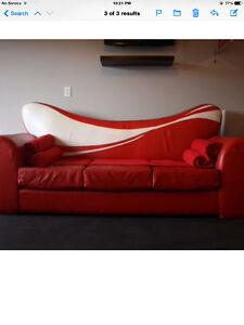 Very rare Coca Cola Genuine Leather Couch