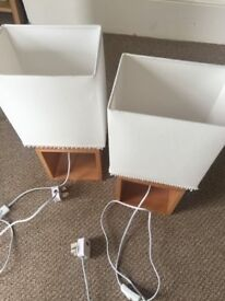 Pair of NEW wooden table lamps - NEXT
