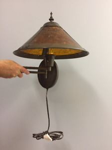 MISSION STYLE Swing Arm Wall Lamps (2)