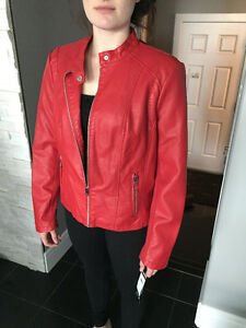 New with tags red leather jacket