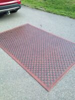 5 by 8 leather living room rug