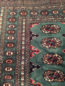 Large, Beautiful Green Persian Rug
