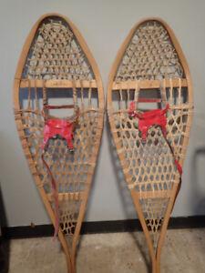 vintage wooden snow shoes