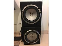 Twin Xplod subwoofer with amplifier
