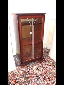 Glass Fronted Wood Unit