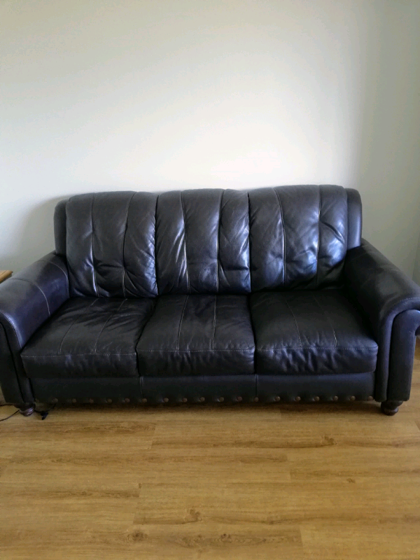 Chocolate Brown Leather Sofa In Plymouth Devon Gumtree