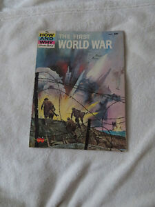 vintage 1964 HOW AND WHY WONDER BOOK OF THE FIRST WORLD WAR