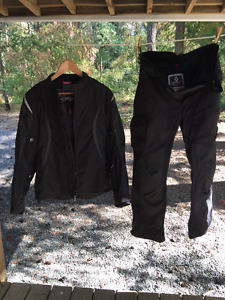 Womens Motorcycle Armored TEKNIC Jacket & SCOTT Armored Pants