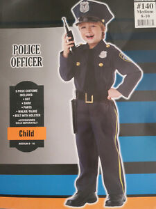 Boy's Police Officer costume size Medium (8-10)