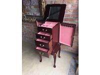 FRENCH JEWELLERY CABINET BOX FREE DELIVERY BEAUTIFUL