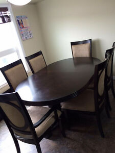 Brown Dining Table with 6 chairs