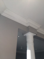 We Install: Coffered Ceiling, Crown Moulding & Wainscot