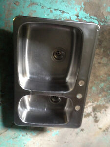 Eviers double kitchen sink