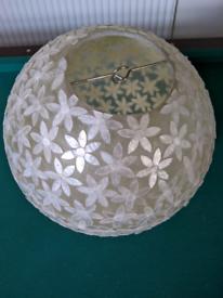 Beautiful mother of pearl lamp shade