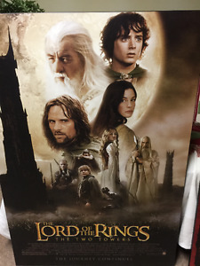 Poster plaque - lord of the rings