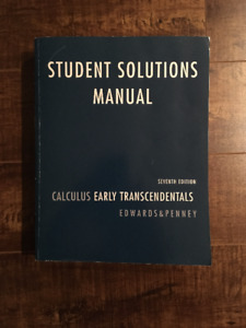 Calculus Early Transcendentals Student Solutions Manual