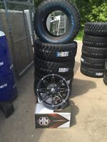Jeep Wrangler 17 rim and Cooper tire package 5 tires and rims