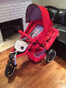 Phil and Ted's Double Stroller with Chicco Car Seat