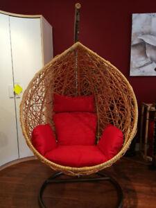 Patio Hanging Rattan Egg Chair Outdoor / Indoor