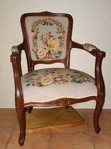 Victorian style needle point chair