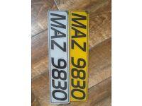 Personalised registration plate