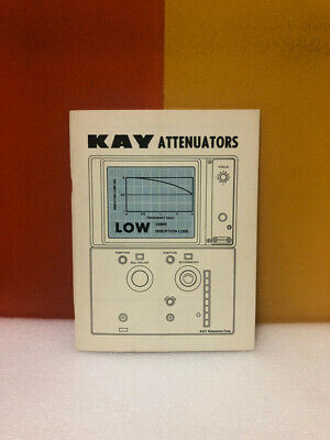 Kay Attenuators In-line Programmable Rotary Instruction Manual