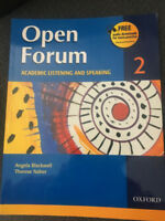 Brand new Open Forum academic listening and speaking