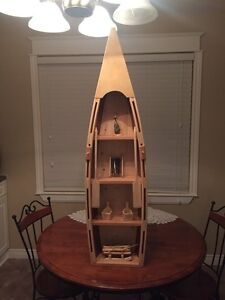 Hand crafted wooden boats