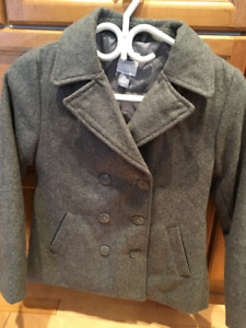 Old Navy Grey Wool Pea Coat