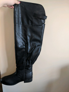 Torrid brand wide width and extra wide calf boots
