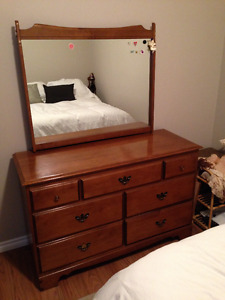 Antique bedroom set with new double mattress