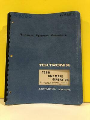 Tektronix 070-1576-00 Tg 501 Time Mark Generator Instruction Manual