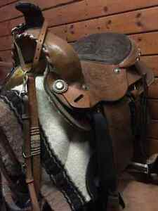 Sell or trade. Roping saddle  Strathcona County Edmonton Area image 1