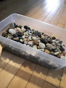 Bucket of rocks