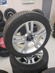 Pontiac g8 wheels and new Michelin x-ice winter tires