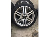 "Mercedes 18"" Amg Alloy Single Wheel Genuine Can Post"