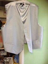 Large mans wedding waistcoat/best man father of bride size 6xl worn once