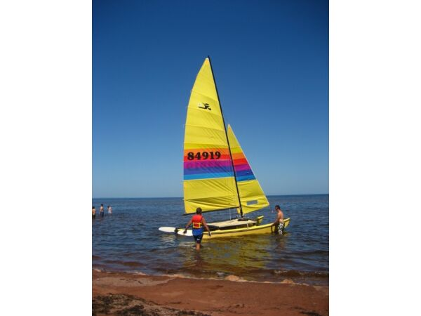 Used 1981 Other 16' Hobie Cat with trailer (unlicenced), spares an