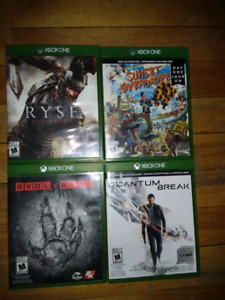 4 xbox one games 8$ each or all 4 for 25$
