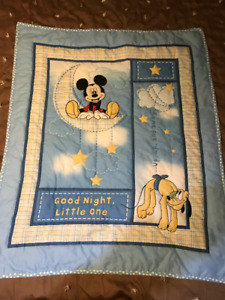 "Mickey Mouse ""Good Night, Little One"" Hand Quilted Blanket"