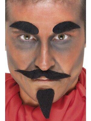 Teufelsbart Teufelkostüm Bart Set 4-teilig Teufel - Bart Set Kostüm