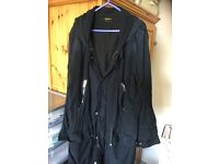 DEISEL Black gold label trench coat