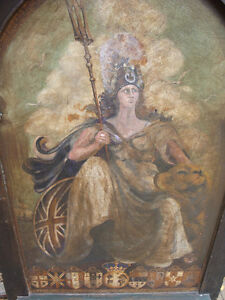 Oil painting, painted panel, Architectural salvage, Antique London Ontario image 4