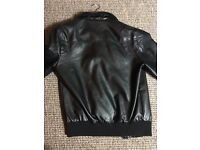 Faux Leather bomber jacket size small OTO