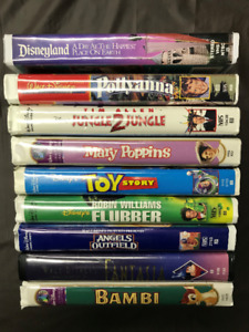 Lot of 17 Children's Disney VHS movies in hard plastic cases!