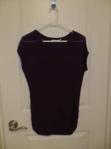 For Sale: Dark Purple Cap-Sleeve Sweater