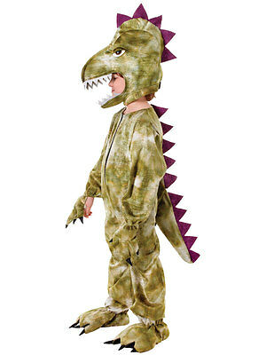 Childs Kids Boys Girls Book Day Week Dinosaur T Rex Plush Fancy Dress Costume (Boys T Rex Costume)