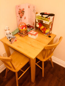 IKEA 2 chair wood dining table for sale!!!!!