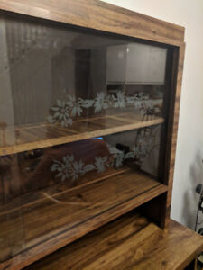 Mid century modern hutch and buffet